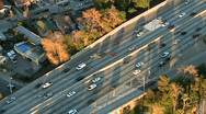 Stock Video Footage of Aerial View of Los Angeles Freeway / Highway / Suburbs - Clip 2