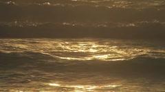 Waves at Sunrise Stock Footage