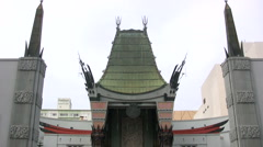Grauman's Chinese Theatre in Hollywood - slow tilt down Stock Footage