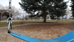 Close-up of Empty Swing Stock Footage