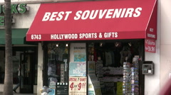 Souvenir store in Hollywood - stock footage