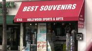Souvenir store in Hollywood Stock Footage