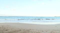 Isla Verde Beach Puerto Rico LS Stock Footage