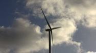 Windturbine and cloudscape Stock Footage
