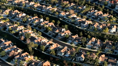 "Aerial footage of ""Weeds"" Houses Homes Suburbs - Clip 2 Stock Footage"