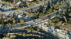 Aerial View of Freeway / Highway Interchange Los Angeles - Clip 4 - stock footage