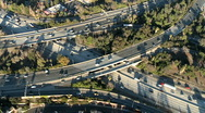 Stock Video Footage of Aerial View of Freeway / Highway Interchange Los Angeles - Clip 4