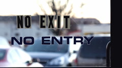 No exit No entry door sign Stock Footage