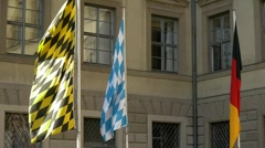 Flags, waving in the wind - stock footage