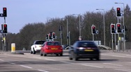 Stock Video Footage of Time lapse of traffic at light controlled junction Northamptonshire England