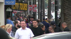 Crowd on Hollywood Blvd. - stock footage