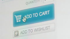 E-commerce, shopping on internet and pc monitor - stock footage