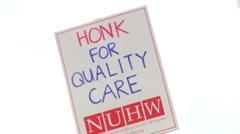 Health Professionals Strike Stock Footage
