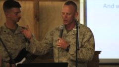 Soldiers have Worship Service (HD) co Stock Footage