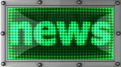 news announcement on the LED display - stock footage