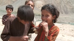 Curious Afghan Children (HD) co - stock footage