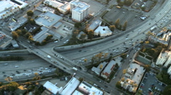 Aerial View of Freeway / Highway / Suburbs -Los Angeles - Clip 2 Stock Footage