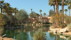 Palm Springs Area Desert Gated Resort Living Stock Footage