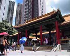 Sik Sik Yuen Wong Tai Sin Temple, Hong Kong GFSD Stock Footage
