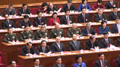 China National People Congress - stock footage