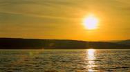 Sunrise over the lake Stock Footage