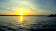 Sunset on the lake Stock Footage