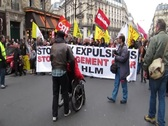 Stock Video Footage of Paris Demonstration Against Housing Expulsions