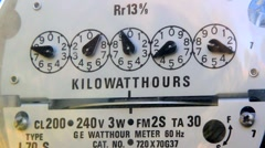 ELECTRIC METER CLOSE-UP 3 Stock Footage