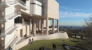 Stock Video Footage of Time Lapse of the Getty Center in Los Angeles - Clip 2