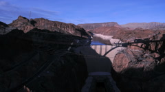 Hoover Dam at Sunset - Time Lapse - Clip 5 of 5 Stock Footage
