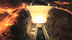 Hoover Dam at Sunset - Time Lapse - Clip 3 of 5 - stock footage