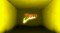 Yippee Label - stock footage
