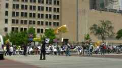 Immigration Protest Rally II Stock Footage
