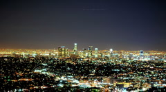 Time Lapse of Downtown LA City Grid at Night - Clip 2 Stock Footage