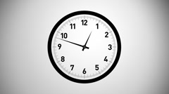 Timelapse clock - stock footage
