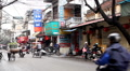 The Bustling Street Scene Of Hanoi, Vietnam, Old Town, Motorcycles, Cars Traffic Footage