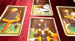 Tarot Cards dolly right Stock Footage