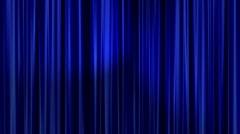 Blue Curtains Stock Footage
