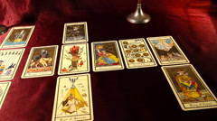 Tarot Cards 07 dolly left Stock Footage