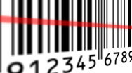 Stock Video Footage of Barcode scanning