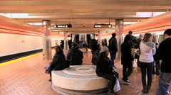 Time Lapse of the San Francisco Subway / Bart Station - Clip 4 - stock footage