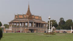 Cambodia: Meeting Hall of Royal Palace Stock Footage