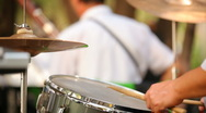 Musician plays the drums Stock Footage