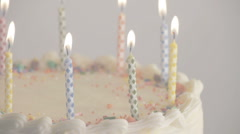 Birthday Cake Loopable Background Stock Footage