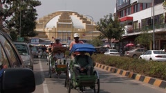 Cambodia: Tourists Take a Tour Stock Footage