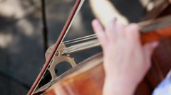 Play on the contrabass Stock Footage