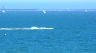 Stock Video Footage of Waverunners In Long Beach, CA Harbor