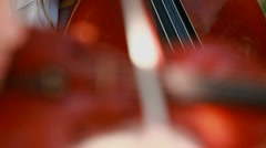 Violinist from the orchestra - stock footage