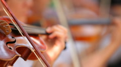 Violinist plays the violin Stock Footage
