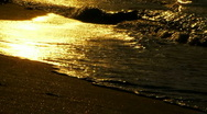 Nice waves at sunset Stock Footage